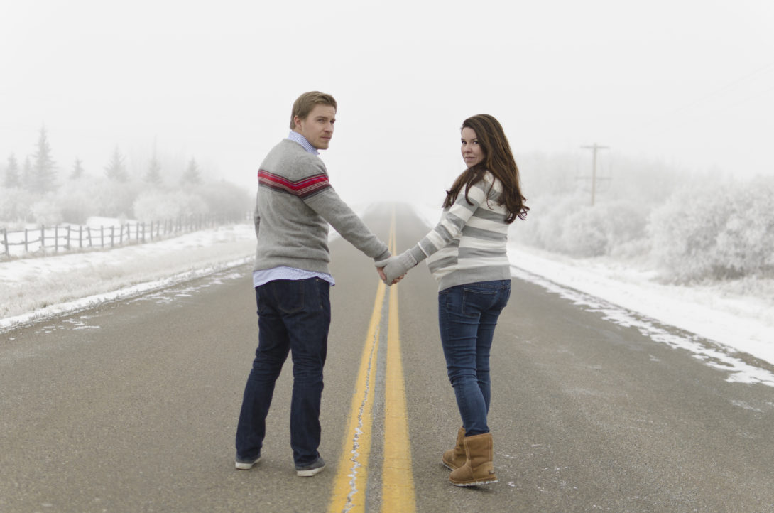 A Winter Wonderland Maternity Session
